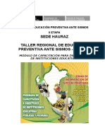 Modulo Educacion Preventiva Ante Sismos Para Regiones