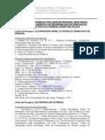 Programa Provas-processo Seletivo 2016-1