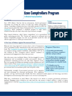 Mexico City's Citizen Comptroller Program - CAPI Issue Brief - August 2016