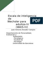 WAIS-IV Y EL OBJETIVO DE SUS PRUEBAS