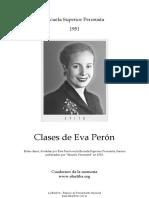 Clases de Evita en La Escuela Superior Peronista en 1951
