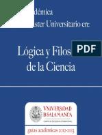 Curricula Logica y Filosofia de La Ciencia