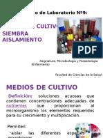 Medios de cultivo- Siembra y aislamiento - Enfermeria 2016