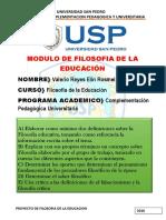 Modulo i de Filosofia de La Educacion