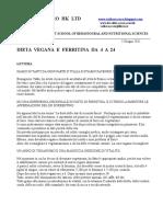 Valdo Vaccaro - Dieta Vegana e Ferritina Da 4 A