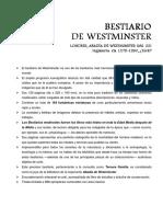 Bestiario de Westminster