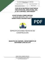 Especificaciones Tecnicas 40 Unidades Sanitarias