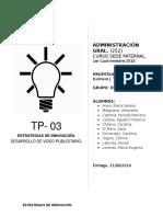 TP 3 Grupo 3 - Estrategias de Innovación