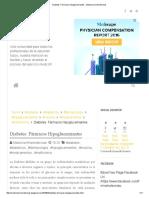Diabetes_ Fármacos Hipoglucemiantes - Medicina Mnemotecnias
