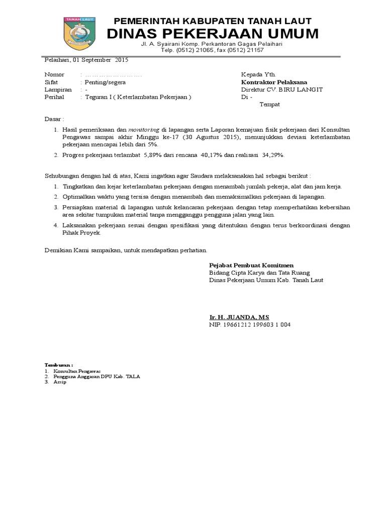 Surat Teguran I Doc