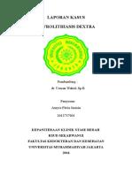 Laporan Kasus - Nefrolithiasis Dextra