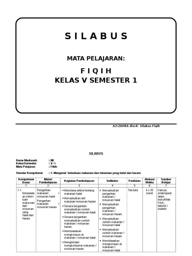 Contoh Silabus Fiqih Mi Guru Ilmu Sosial