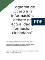 Programa de Acceso a La Información
