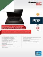 Lenovo G480 Datasheet