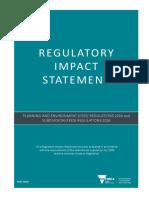 Regulatory Impact Statement