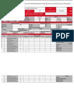 Registro de Mantenimiento Preventivo de Grupo Electrogeno Sdmo