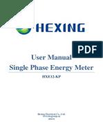 10.1 User Manual of Single HXE12-KP