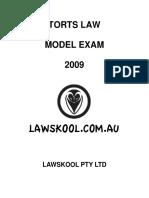 torts_law_model_exam_2009.pdf