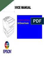 Epson EPL-N1600 500 Sheet Feeder Service Manual