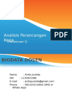 Analisis Perancangan Kerja (1)
