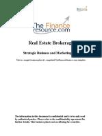 Real Estate Brokerage Business Plan