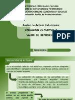 Avaluo de Activos Industriales (Valor de Reposicion)