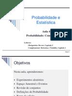 Aula 4 - Probabilidade Conceitos Básicos Parte 1