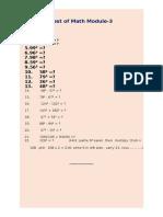 test of math module-3