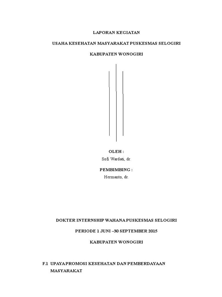 Laporan F1 F6 Puskesmas Sofi Docx