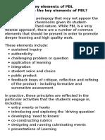 key elements of pbl