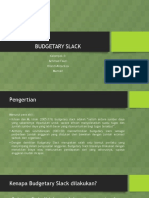 Teori Akuntansi - Budgetary Slack