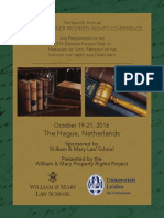 2016 Brigham-Kanner Property Rights Conference Program