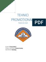 Tehnici promotionale- Teme de casa- Cristache Nicoleta