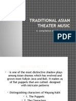 Traditional Asian Theater Music