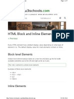 HTML Block and Inline Elements