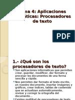4.1 Procesadores de Texto