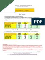Le baromètre de juillet 2016 de l'ONISR