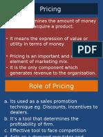 M.com Sem Two Pricing Strategies