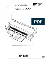 Epson Stylus 1000 Manual