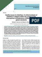 Quality Issu in Midwifery ICM