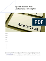 Descriptive Analytics Understanding Business