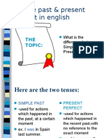 0simple Past vs. Present Perfect
