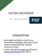 materi Holter Recorder 1