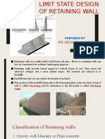 Class Notes_Design of Cantilever Retaing Wall