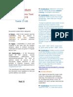 Tests 11-20 2016 Corrigendums
