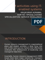 HRM activities using IT-enabled systems - PPT