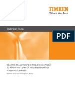 Timken Bearing Selection Techniques as Applied to Mainshaft Direct and Hybrid Drives for Wind Turbines
