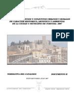 Norma. y Catalogo Edificios Historicos de Tortosa 2007