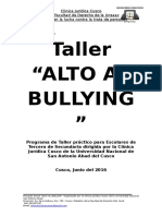 Proyecto ALTO AL BULLYING Clinica Juridica