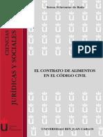El Contrato de Alimentos en El CA3digo C - EcheverrAa de Rada, Teresa(Author)